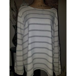 Loft Striped Blouse sz XXL